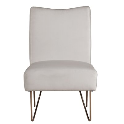 Helmuth Slipper Chair Upholstery: White