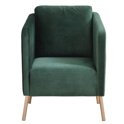 Helsel Velvet Armchair Upholstery: Green
