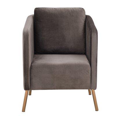 Helsel Velvet Armchair Upholstery: Mushroom