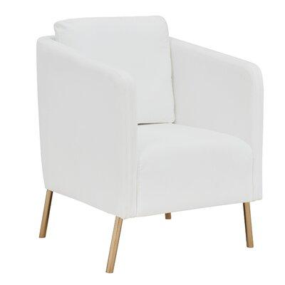 Helsel Velvet Armchair Upholstery: White
