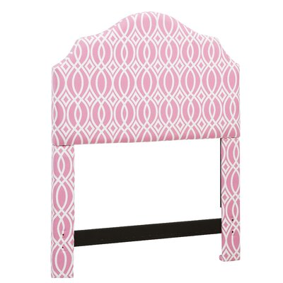 Feltman Upholstered Panel Headboard Size: Full/Queen, Color: Pink