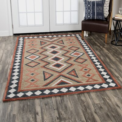 Crescent Hand-Tufted Wool Brown Area Rug Rug Size: Rectangle 5 x 8