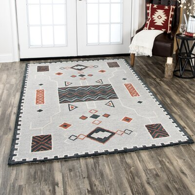Potts Hand-Tufted Wool Beige Area Rug Rug Size: Rectangle 5 x 8