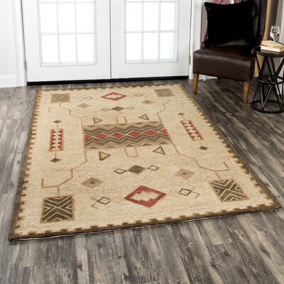 Potts Hand-Tufted Wool Gold Area Rug Rug Size: Rectangle 10 x 13