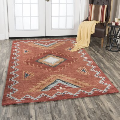 Potts Hand-Tufted Wool Rust Area Rug Rug Size: Rectangle 5 x 8