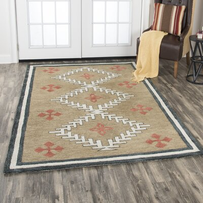 Potts Hand-Tufted Wool Brown Area Rug Rug Size: Rectangle 10 x 13