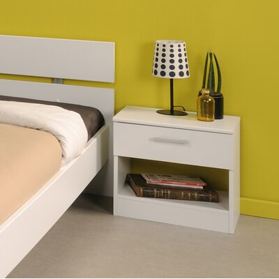 Matos 1 Drawer Nightstand Color: White