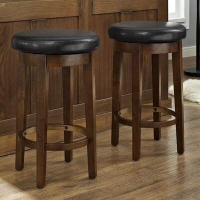 Hoskinson 26 Swivel Bar Stool Color: Black