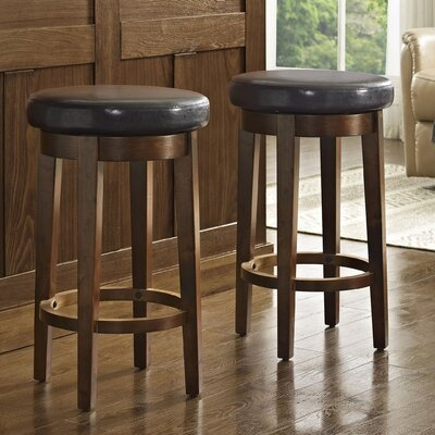 Hoskinson 26 Swivel Bar Stool Color: Brown