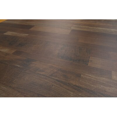 Porto 9 x 48 x 8mm Driftwood Laminate Flooring in Dark Brown
