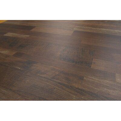 "Porto 9"" X 48"" X 8mm Driftwood Laminate Flooring In Dark Brown"