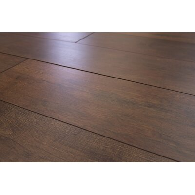 Torre 9 x 48 x 8mm Oak Laminate Flooring in Dark Brown