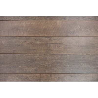 Geneva 9 x 48 x 12mm Driftwood Laminate Flooring in Brown