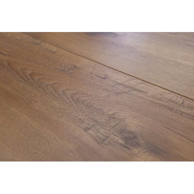 Geneva 8.5 x 48 x 12mm Hickory Laminate Flooring in Light Brown