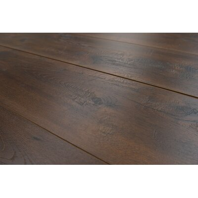 Geneva 9 x 48 x 12mm Hickory Laminate Flooring in Dark Brown