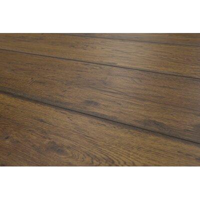Geneva 8.5 x 48 x 12mm Oak Laminate Flooring in Medium Brown