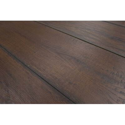 Geneva 9 x 48 x 12mm Oak Laminate Flooring in Dark Brown