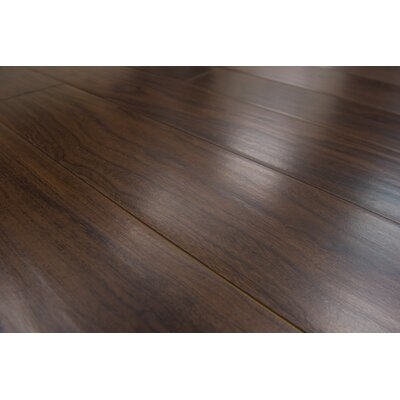 Marseille 6 x 54 x 8mm Walnut Laminate Flooring in Chocolate