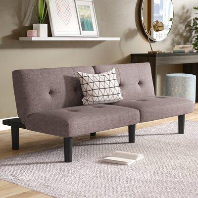 Porcaro Wood Adjustable Wood Frame Reclining Sleeper Sofa Upholstery: Gray