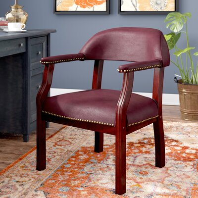 Tharptown Guest Chair Fabric: Burgundy, Casters/Glides: Included