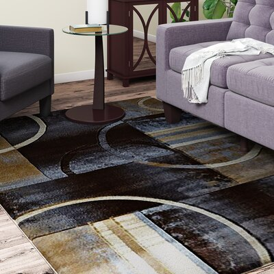 Collier Black/Gray Area Rug Rug Size: 52 x 75