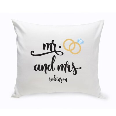 Hartranft Personalized Mr. and Mrs. Wedding Throw Pillow