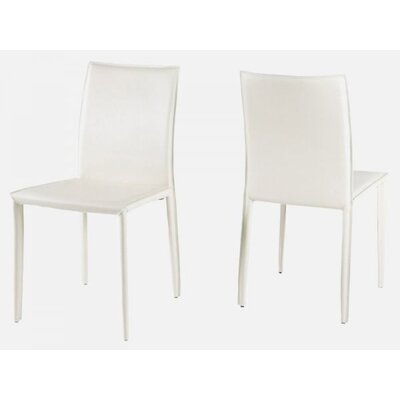 Sherwin Dining Chair (Set of 2) Upholstery Color: White