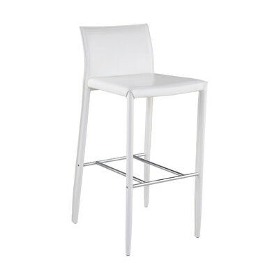Sherwin 24 Bar Stool (Set of 2) Upholstery: White