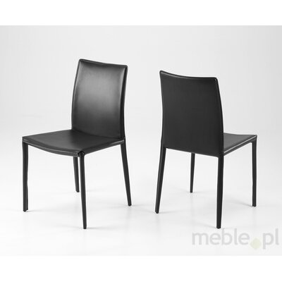 Sherwin Dining Chair (Set of 2) Upholstery Color: Black