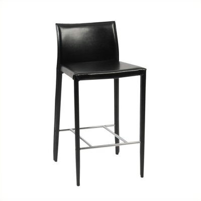 Sherwin 24 Bar Stool (Set of 2) Upholstery: Black