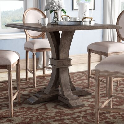 Parfondeval Square Counter Height Dining Table Finish: Rustic Java