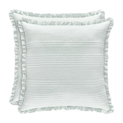 Leavell Cotton Throw Pillow Color: Aqua