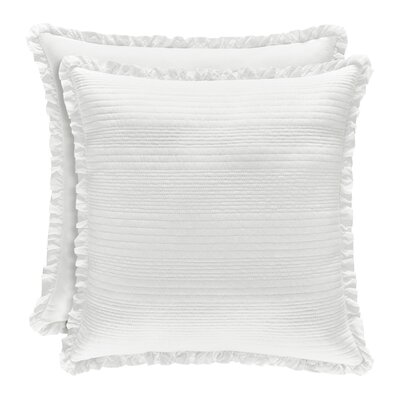 Leavell Cotton Throw Pillow Color: White