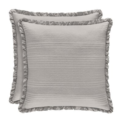 Leavell Cotton Throw Pillow Color: Silver
