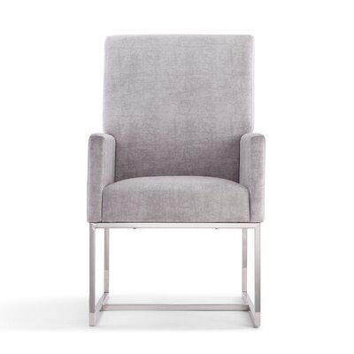 Mcmath Upholstered Dining Chair Upholstery Color: Gray
