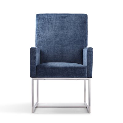 Mcmath Upholstered Dining Chair Upholstery Color: Blue