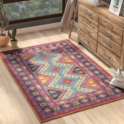 Robbins Fuchsia/Navy Area Rug Rug Size: Rectangle 5 x 76
