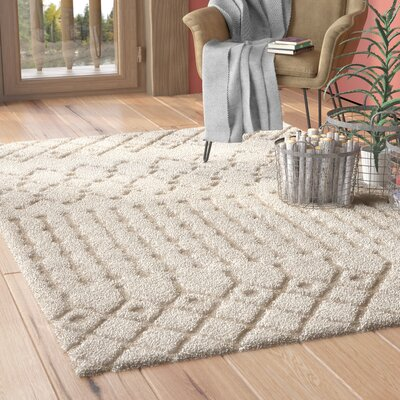 Burnvale Creme Area Rug Rug Size: Rectangle 3 x 5