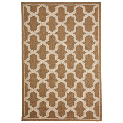 Enoch Geometric Hand-Woven Camel Indoor/Outdoor Area Rug Rug Size: Rectangle 76 x 96