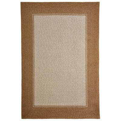 Enoch Border Hand-Woven Camel Indoor/Outdoor Area Rug Rug Size: Rectangle 5 x 76