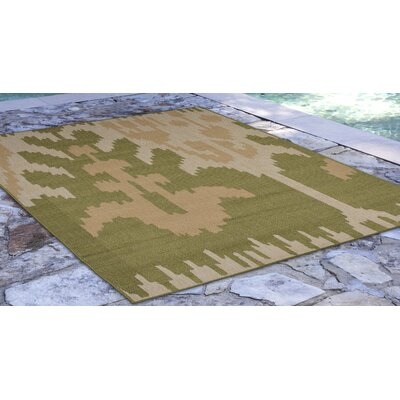 Gorski Ikat Green/Ivory Indoor/Outdoor Area Rug Rug Size: Rectangle 710 x 910