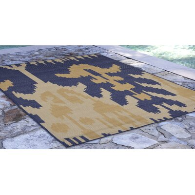 Finklea Ikat Blue/Beige Indoor/Outdoor Area Rug Rug Size: Rectangle 710 x 910