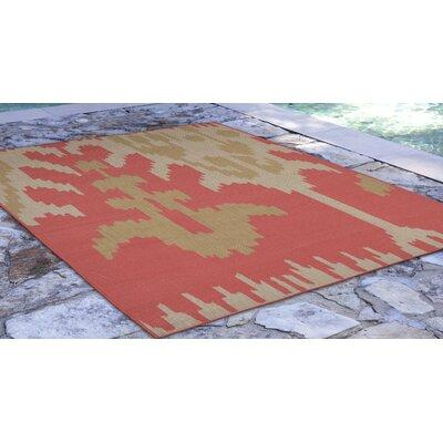 Finklea Ikat Rust/Beige Indoor/Outdoor Area Rug Rug Size: Rectangle 410 x 76