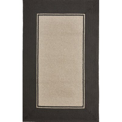Enoch Border Hand-Woven Black Indoor/Outdoor Area Rug Rug Size: Rectangle 36 x 56