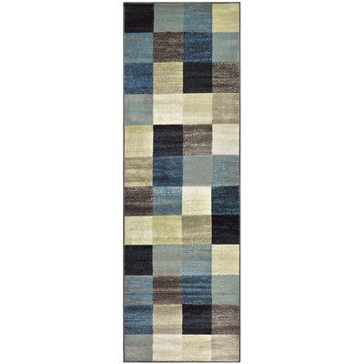 Churchton Beige/Blue Area Rug Rug Size: Runner 26 x 8
