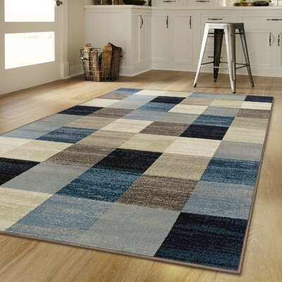 Churchton Beige/Blue Area Rug Rug Size: Rectangle 6 x 9
