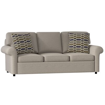 Bulfinch Sofa Body Fabric: Grande Pewter, Pillow Fabric: Feathers Linen