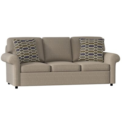 Bulfinch Sofa Body Fabric: Grande Leather, Pillow Fabric: Stella Pewter