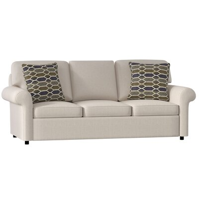 Bulfinch Sofa Body Fabric: Grande Linen, Pillow Fabric: Rockaway Pewter