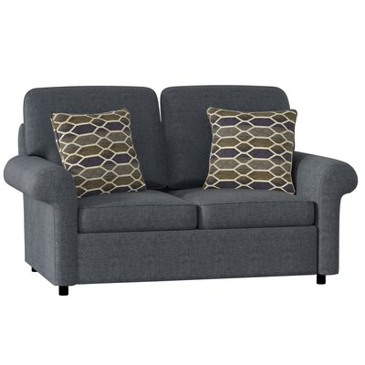 Bulfinch Loveseat Body Fabric: Grande Ocean, Pillow Fabric: Rockaway Pewter